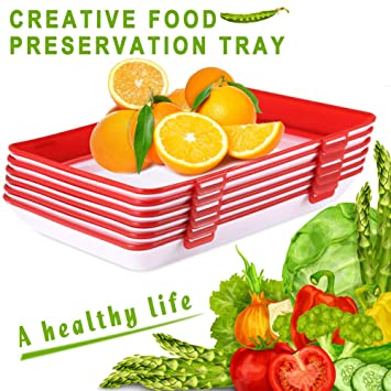 4pcs Healthy Creative Food Preservation Tray Storage Container Set Kitchen Tool