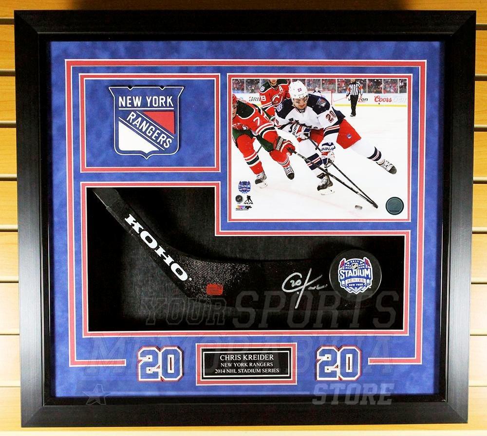 Chris Kreider New York Rangers Sign Autograph Stadium Series Stick Blade  Framed at Amazon s Sports Collectibles Store cd57ff8aa