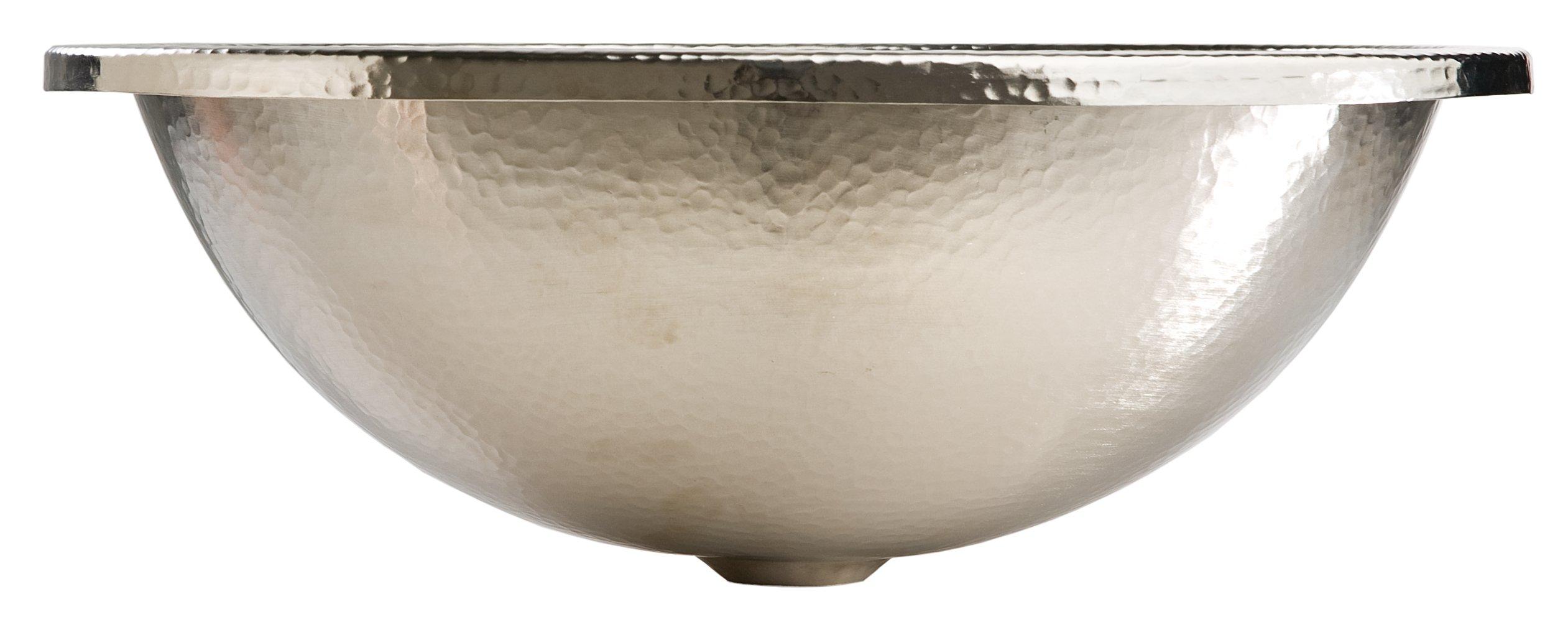 Sinkology SB203-18N Edison Dual Mount Oval Bathroom Sink, 18-0.5 Inch, Hammered Nickel by Sinkology (Image #2)