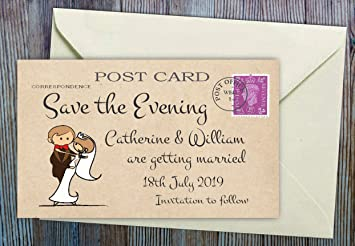 50 personalised save the evening or save the date magnets for