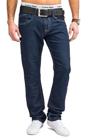 9bc6a6bd3929ca Jeans Hommes | (Slim Fit) Pantalon Jeans en Pur Coton avec Une Jambe Droite