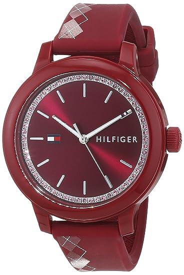 Tommy Hilfiger Reloj Análogo clásico para Mujer de Cuarzo con Correa en Silicona 1781813: Amazon.es: Relojes