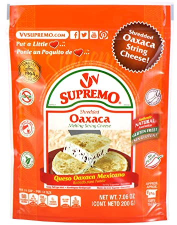 V&V Supremo, Shredded Oaxaca Mexican Cheese, 7.06 oz