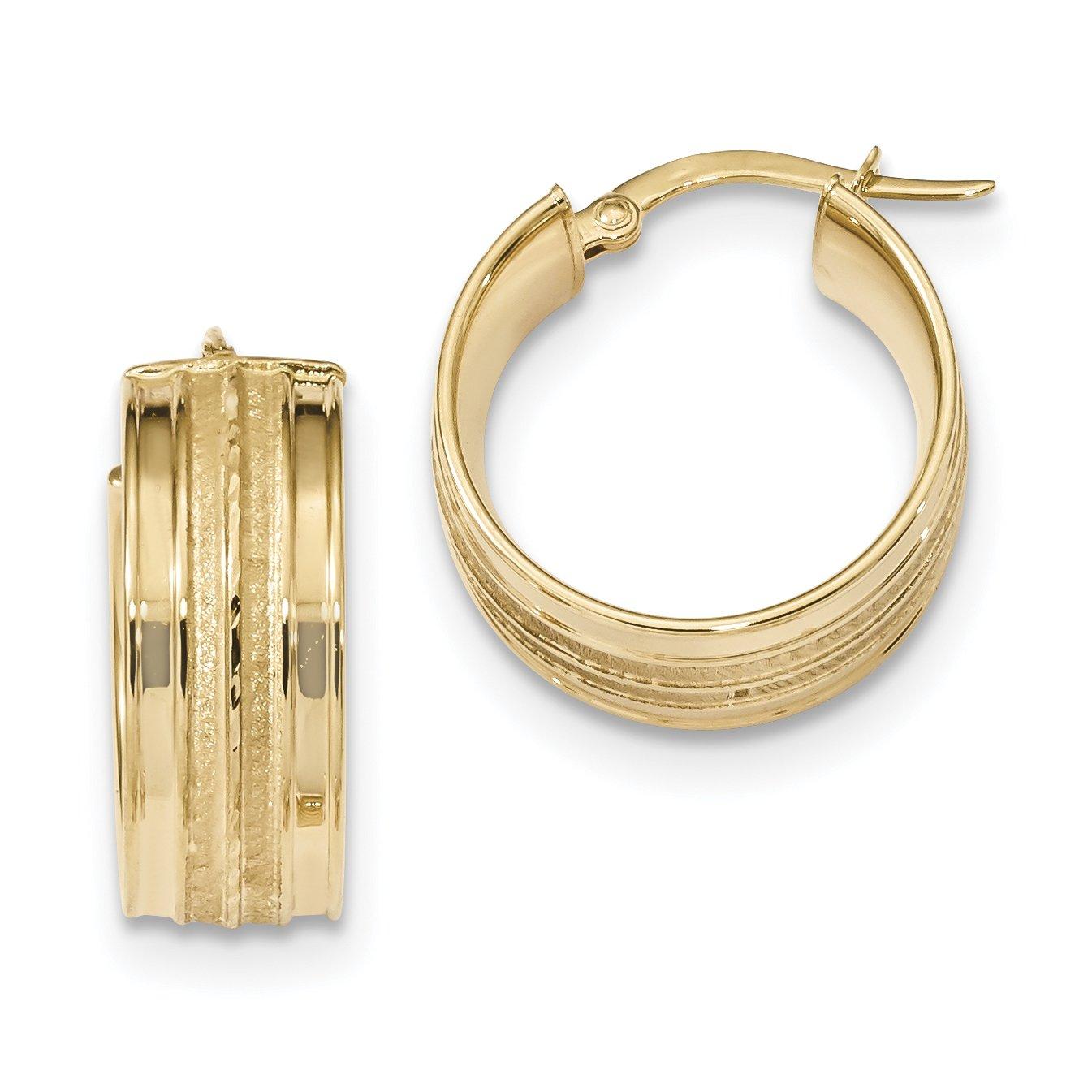 ICE CARATS 14k Yellow Gold Hoop Earrings Ear Hoops Set Fine Jewelry Gift Set For Women Heart by ICE CARATS (Image #1)
