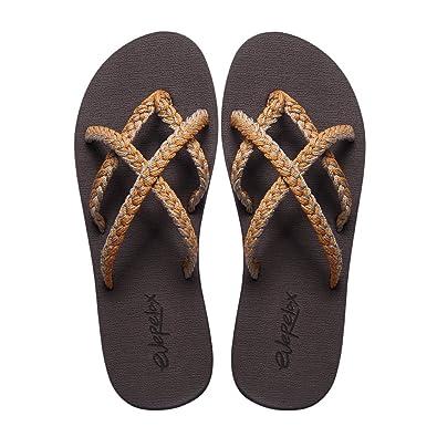 8352a2bb49a Everelax Women s Flip Flops Sandal 6 B(M) US