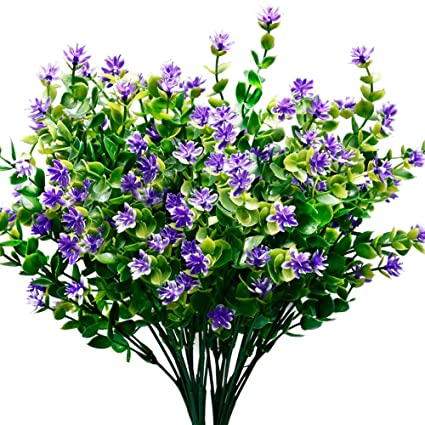 Amazon.com: TEMCHY Artificial Flowers Faux Plants, Lifelike Fake ...