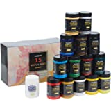 MEEDEN Acrylic Paint Set, 15 Vibrant Colors, 300ML(10.14 oz) Non-Toxic for Canvas, Fabric, Crafts, and More for Artists, Begi