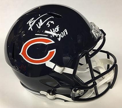 03bd1e7c1 Brian Urlacher Autographed Signed Bears F S Speed Helmet with Hof 2018 Insc    Beckett