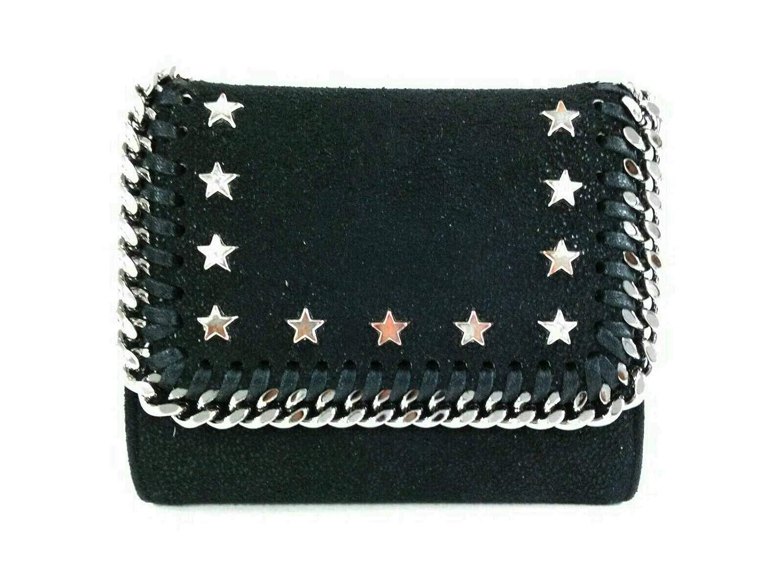 (ステラマッカートニー)Stella McCartney 3つ折り財布 ファラベラ 黒×シルバー 431000 W8006 SU17 【中古】 B07NDTY5DL