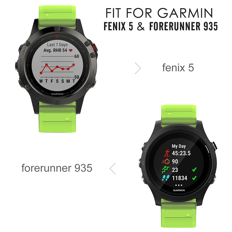 MoKo Garmin Fenix 5 Banda, Silicona Reemplazo Correa con 2pcs Destornilladores para Garmin Garmin Fenix 5/5 Plus/Instinct/Forerunner 935/Approach S60 Smart ...