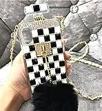 Losin Perfume Case Compatible with Apple iPhone 7 Plus/iPhone 8 Plus 5.5 in Luxury Bling Diamond Rhinestone Bow Perfume…