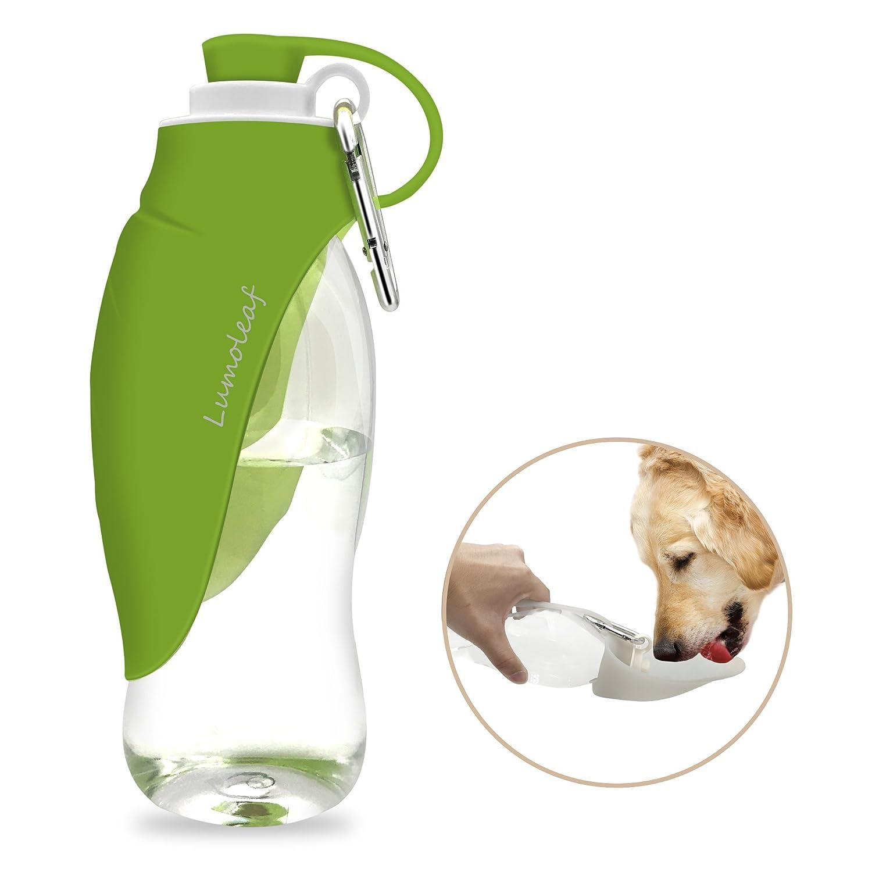 Botella De Agua Para Perros Y Gatos, Verde (600 Ml)