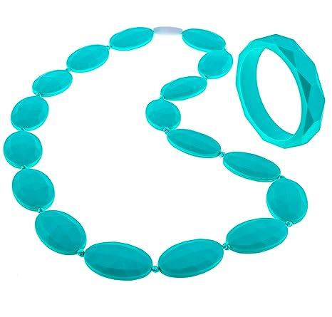 Amazon.com: Collar y pulsera de dentición Para las Madres de ...