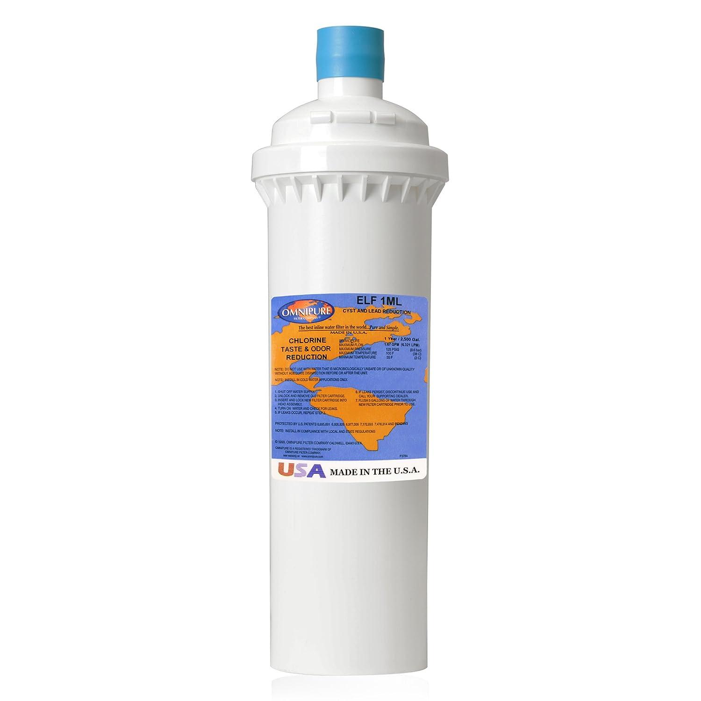 Omnipure FI-ELF-1ML Water Filter, Single Unit, White