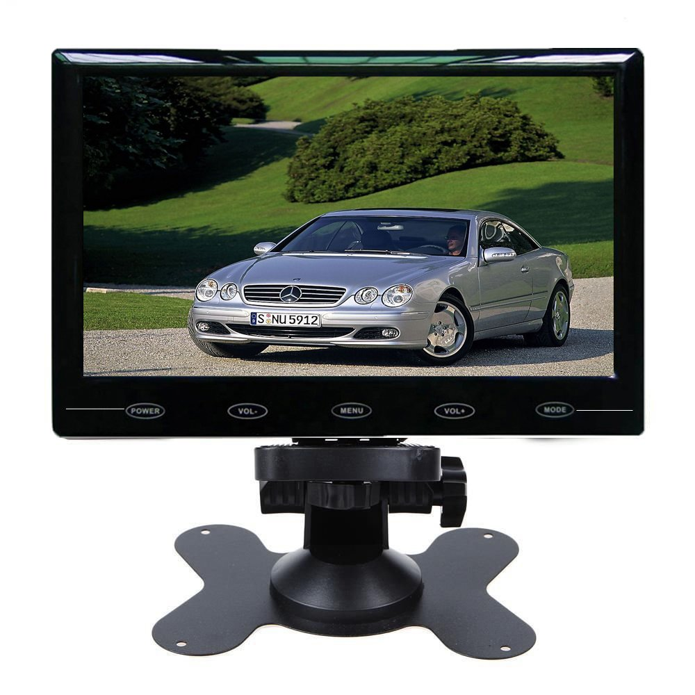 SallyBest® 9'' Ultra Thin HD 800*480 TFT Color LCD Screen 2 Video Input Car Rear View Headrest Monitor DVD VCR Monitor with Remote Control and Touch Button