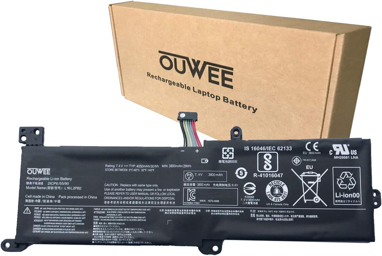 K KYUER L16C2PB2 Batería para Lenovo IdeaPad 320-14AST 320-14IAP 320-14ISK 320-15ABR 320-15AST 320-15IAP 320-14AST 330-14IGM 520-15IKB V320-17IKB B320-14IKB S145-14IIL L16L2PB1 L16S2PB1 L16C2PB1