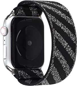 Solo Loop Compatible for Apple Watch Band Series 6/SE 44mm,Series 5/4 44mm,Series 3/2/1 42mm,Sports Strap for iwatch Belt Nylon Bracelet.