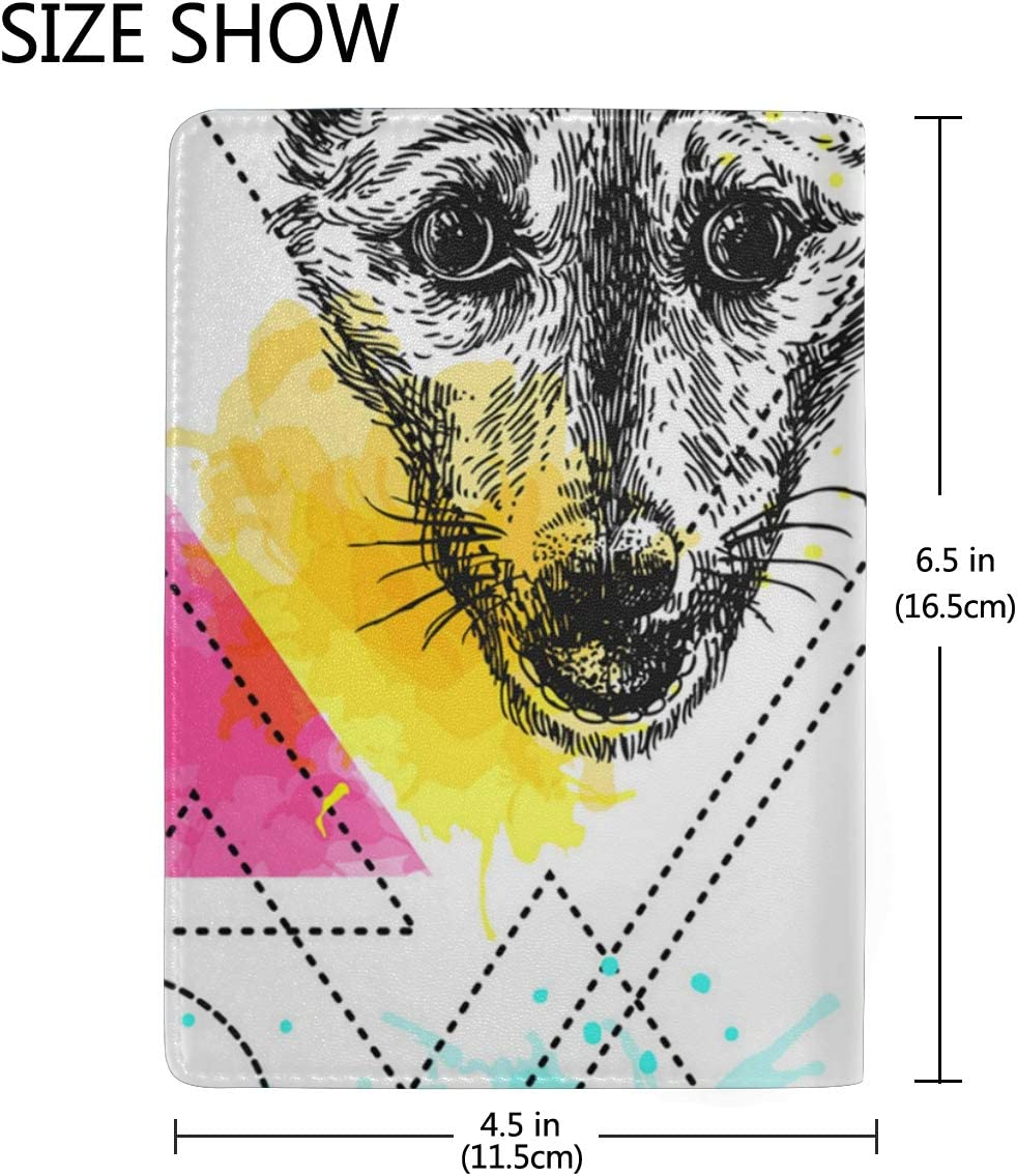Wolf Mask For Kids Multi-purpose Travel Passport Set With Storage Bag Leather Passport Holder Passport Holder With Passport Holder Travel Wallet