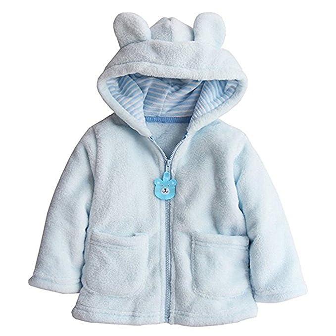 REWANGOING Baby Toddler Kid Little Boys Girls Super Soft Fleece Cartton  Bear Hooded Coats Blazers Jackets 35db210c9