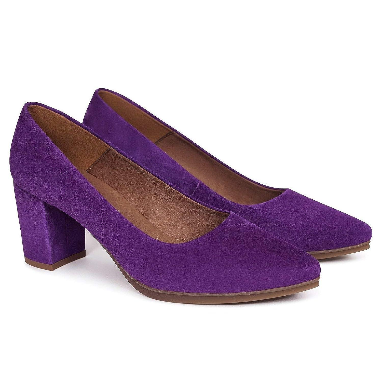 Salón Tacón En Mujer España Zapatos Hechos Piel 6Rqff4
