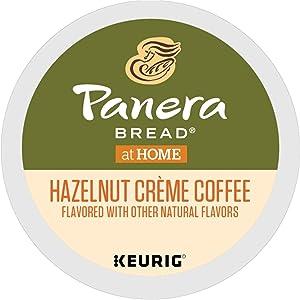 Panera Bread Hazelnut Crème, Single-Serve Keurig K-Cup Pods, Flavored Light Roast Coffee, 32 Count