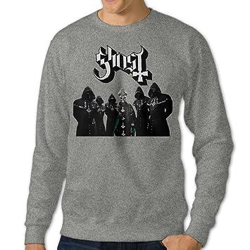 JXMD Men s Popestar-Ghost B.C. Crewneck Hooded Sweatshirt Ash Size ... 000b3d7893