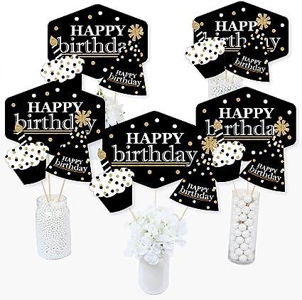 Amazon.com: Adultos feliz cumpleaños – oro – cumpleaños ...