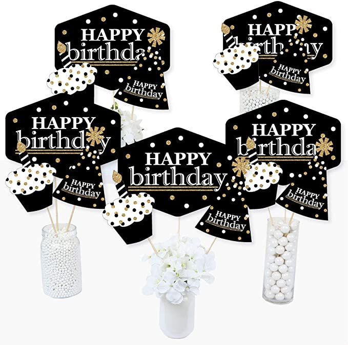 Ice Fountain Birthday Number 5 Five 5th Numeric Party Table Decoration