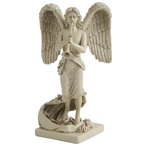 Archangel Gabriel with Trumpet Statue, 8.5 Inches