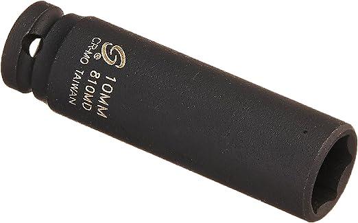 Sunex 810m 1//4-Inch Drive 10-Mm Impact Socket