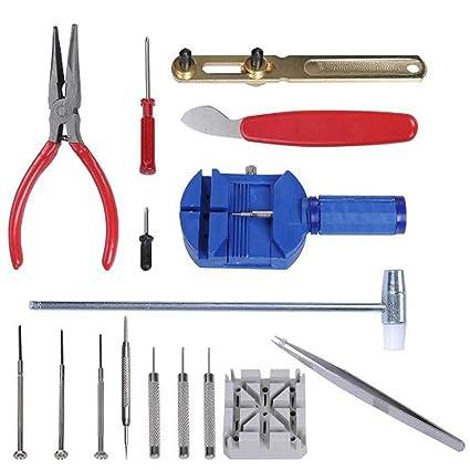 6d38f16a4 Ctbd reloj de relojería 16PCS reloj de reparación de herramientas Kit de  apertura del removedor de