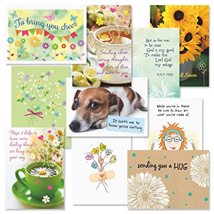 Get Well Faith Greeting Cards Value Pack Set Of 20