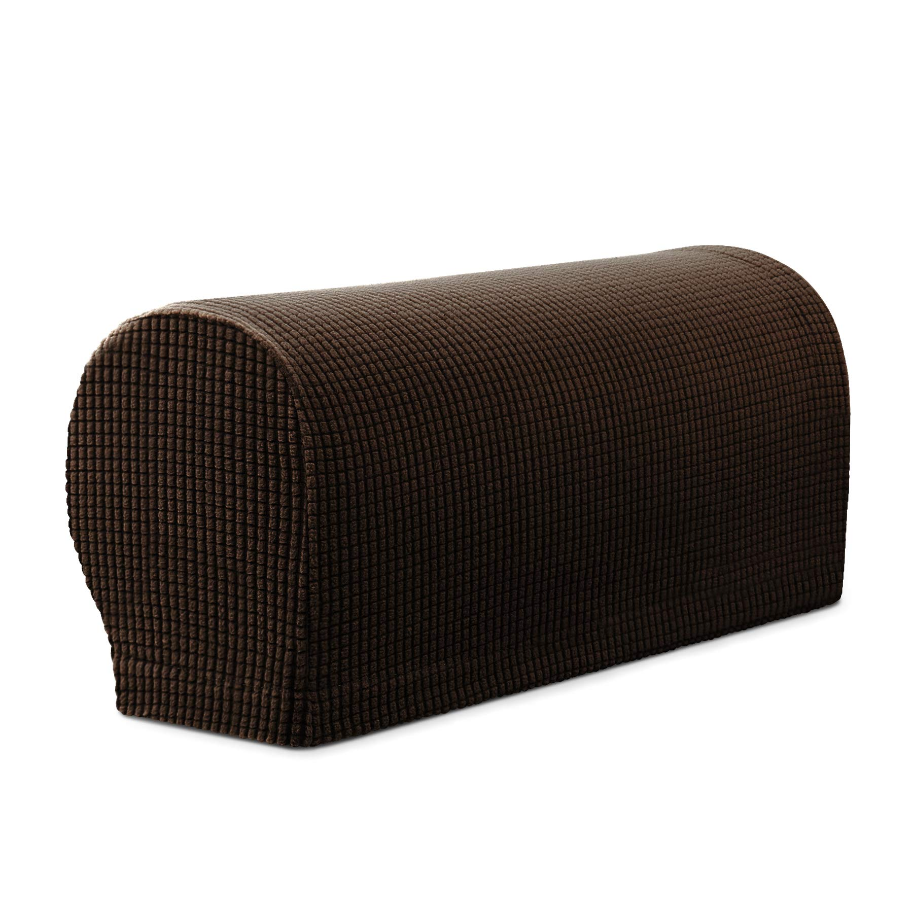Subrtex Spandex Stretch Armrest Covers Set of 2 (Chocolate) by Subrtex