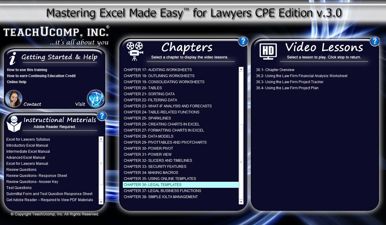 Amazon com: Mastering Microsoft Excel Made Easy for Lawyers