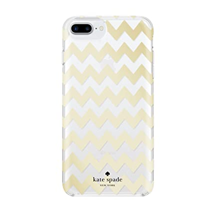 Kate Spade New York Protective Hardshell Case For Iphone 7 Plus Chevron Gold Foil