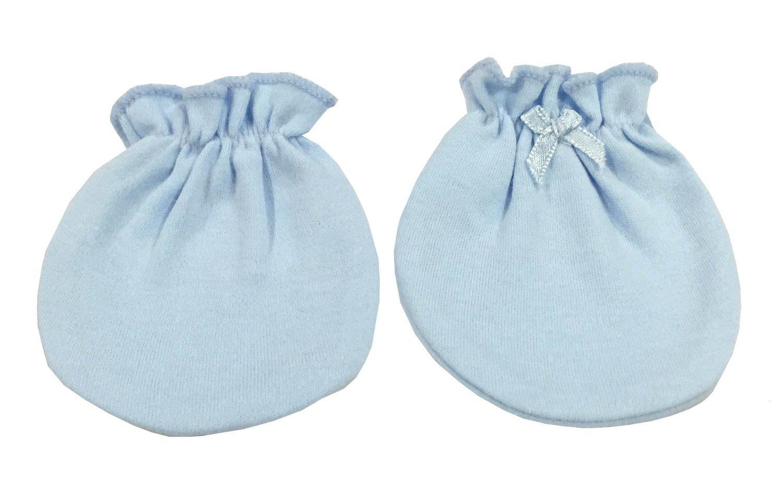 4 Pairs Cotton Newborn Baby//infant Boys No Scratch Mittens Gloves Blue N Green