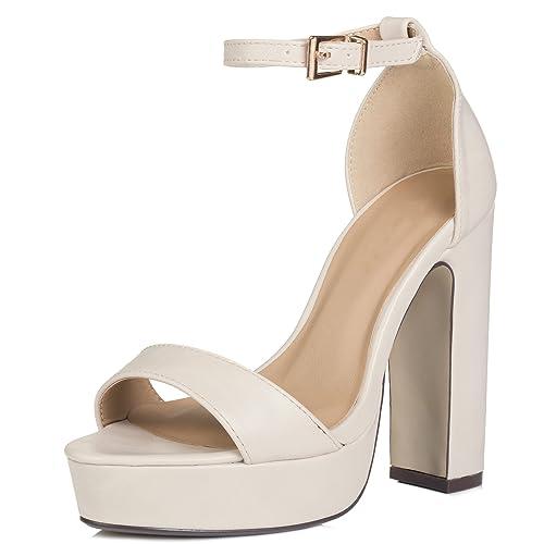 b2f53d2ecf8c6 Amazon.com: Spylovebuy Laura Women's Platform Block Heel Barely ...
