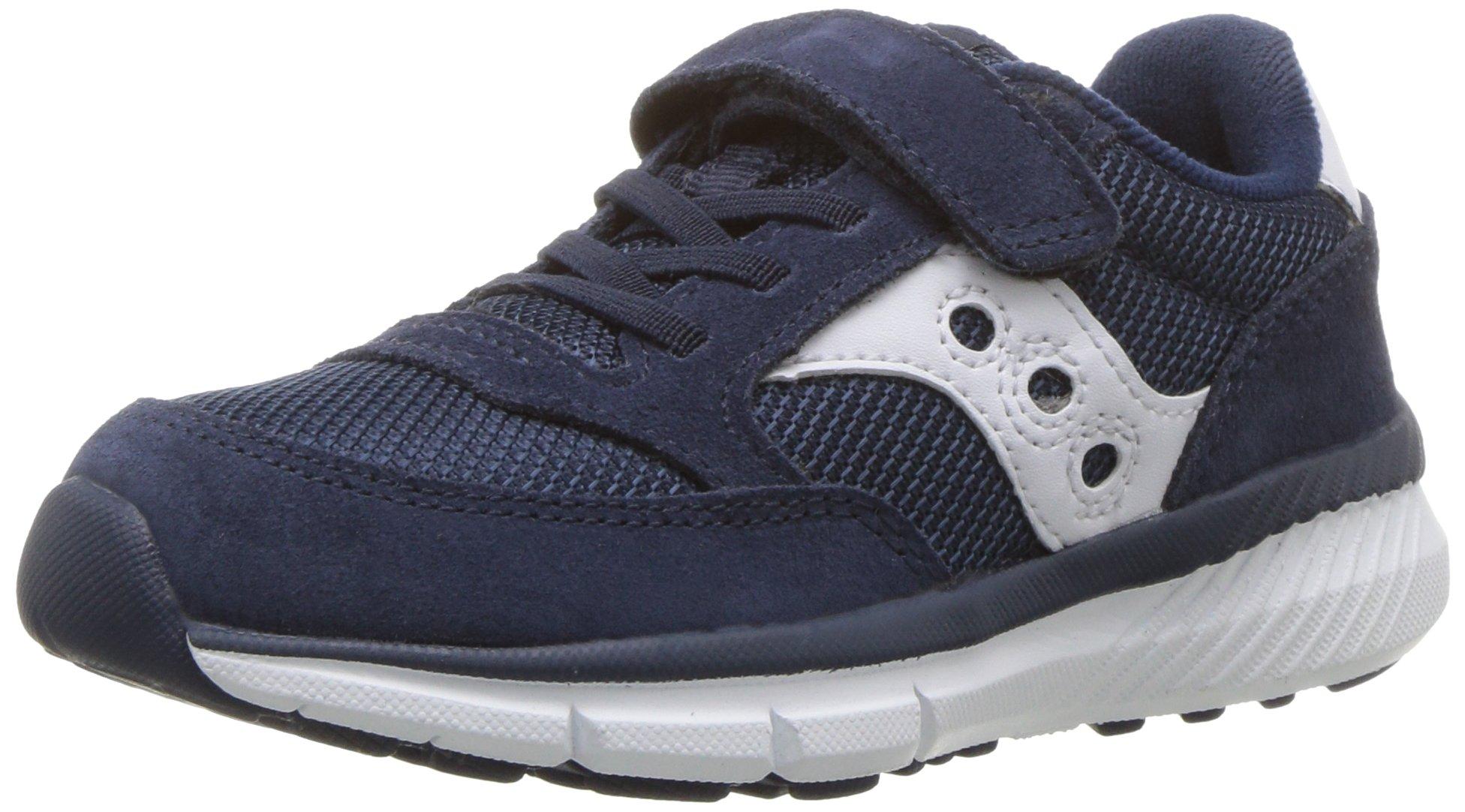 Saucony Jazz Lite A/C Sneaker (Little Kid), Navy/White, 13.5 Medium US Little Kid