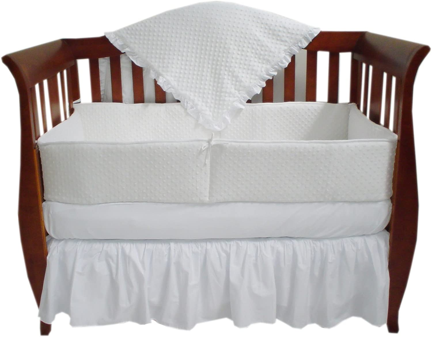 TL Care Heavenly Soft Minky Dot 4 Piece Crib Set, White by TL Care