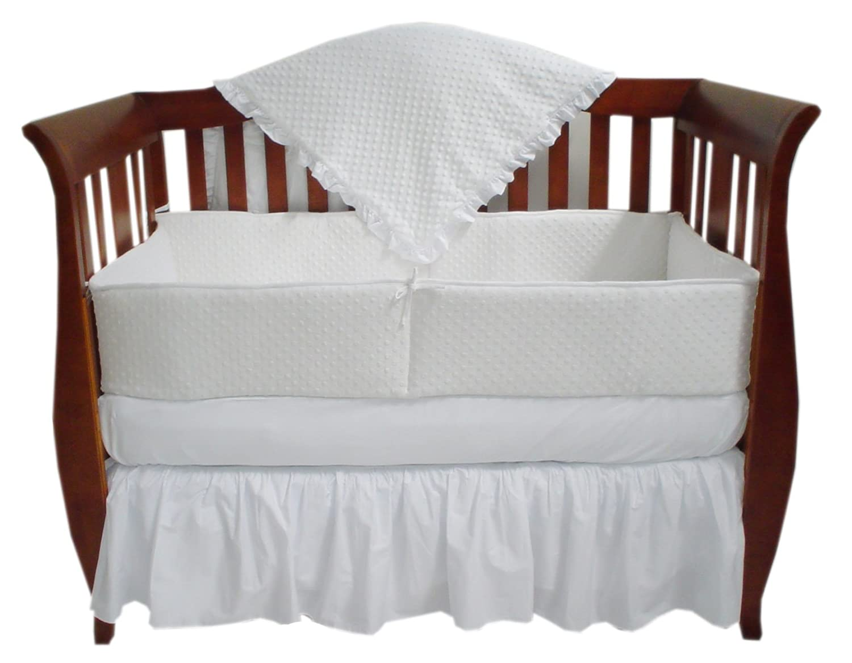 TL Care Heavenly Soft Minky Dot 4 Piece Crib Set, White by TL Care   B0199GE5GU