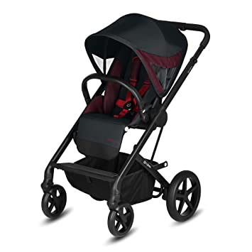 Love Red Cybex Balios S Convertible Baby Stroller with Sun Canopy