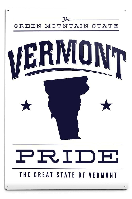 最前線の バーモント州Pride – x ブルーonホワイト Metal Canvas 12 Tote Bag LANT-68073-TT B06XZZ3CYY 12 x 18 Metal Sign 12 x 18 Metal Sign, おてんば:8dd2fd09 --- irlandskayaliteratura.org