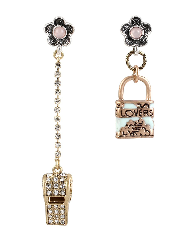 Amazon.com: Betsey Johnson WANDERLUST LOCK AND WHISTLE MISMATCH ...