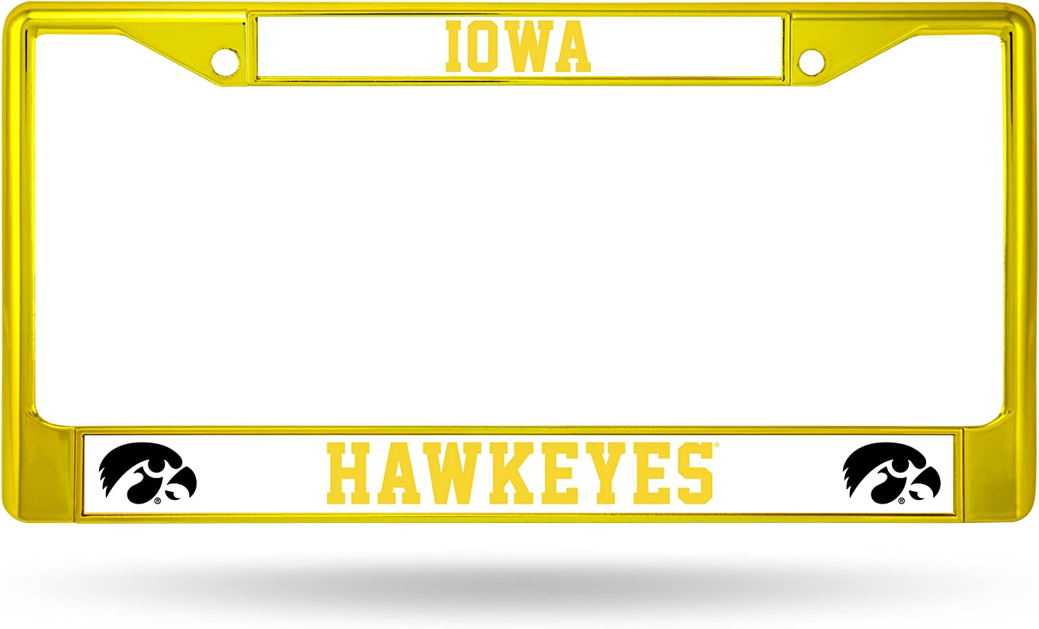 Rico Industries NCAA Iowa Hawkeyes Team Colored Chrome License Plate Frame, Yellow 71bcSlvgY4L