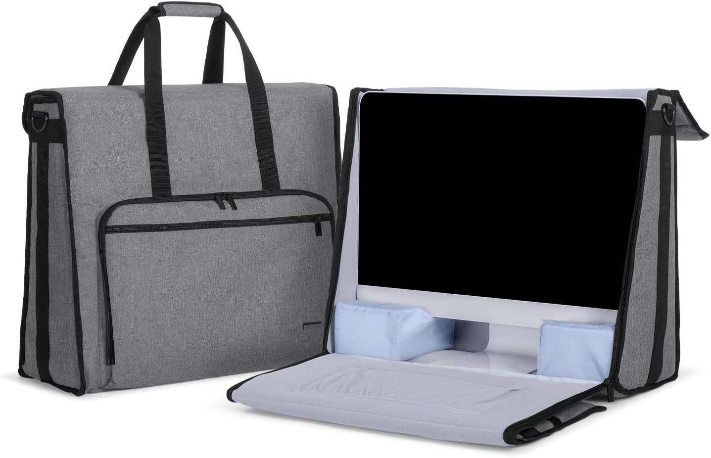 "Damero Carrying Tote Bag Compatible with Apple 21.5"" iMac Desktop Computer, Travel Storage Bag for iMac 21.5-inch and Other Accessories, Gray"