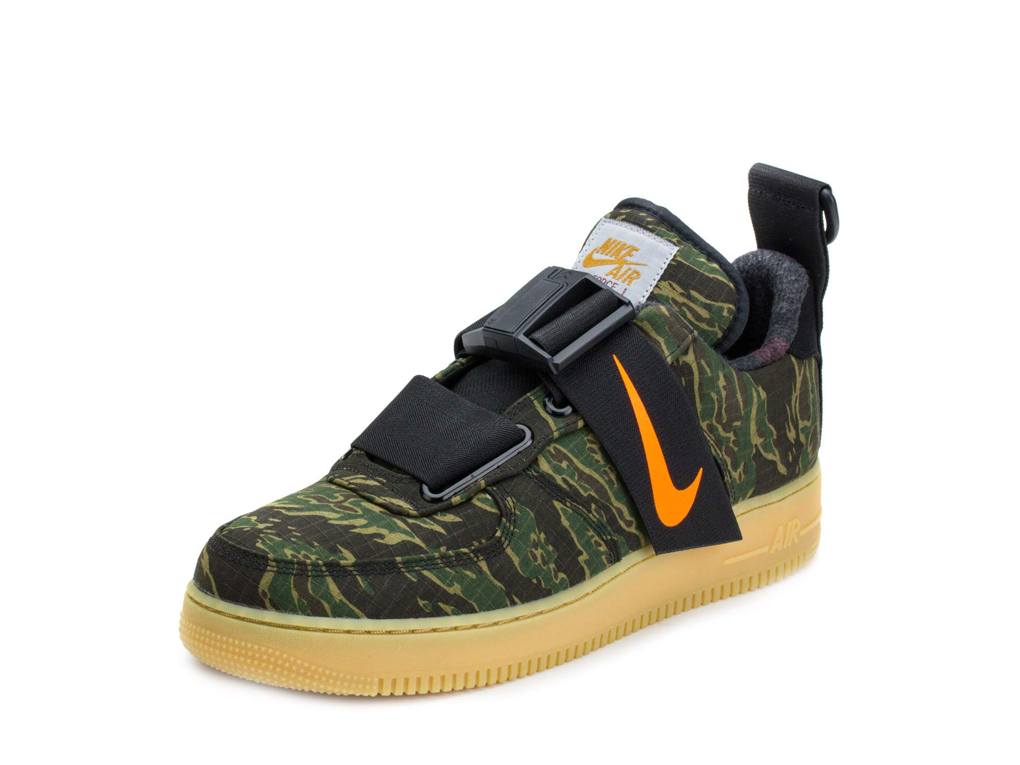182f318084073 Galleon - Nike Mens Air Force 1 UT Low PRM WIP Camo Green/Orange Synthetic