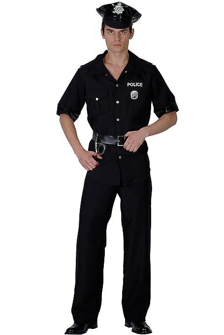 Disfraz de policía para hombre L: Amazon.es: Juguetes y juegos