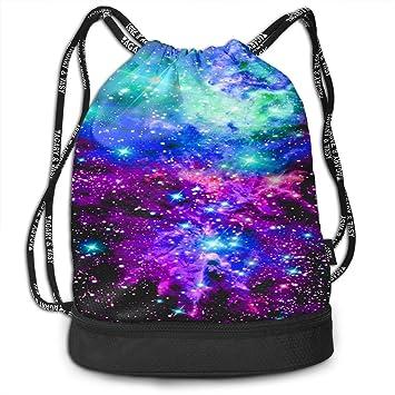 Drawstring Bag Nebula Galaxy Pink Purple Blue Womens Gym Backpack Fabulous  Mens Travel Canvas Bags for aac0b71860