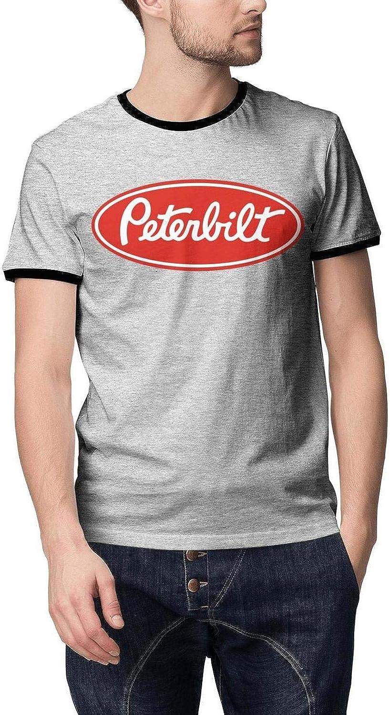 Short Sleeve Heart Wolf Manly Tee Shirt Comforsoft Classic Peterbilt-Logo