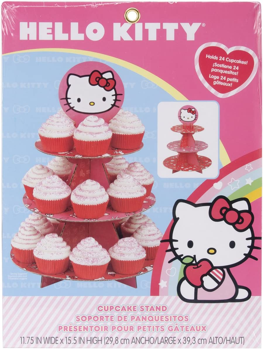Wilton Hello Kitty Paper Cupcake Stand, Holds 24 Cupcakes